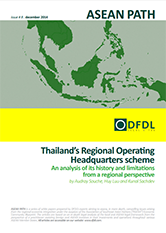 ASEAN Path #8: Thailand's Regional Operating Headquarters scheme