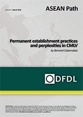 ASEAN Path #9 Permanent establishment practices and perplexities in CMLV