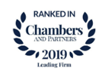 Ranked in Chambers and Partners 2019 Leading Firm Awards