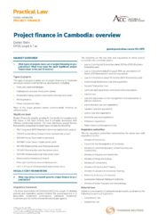 Project Finance Regulation in Cambodia