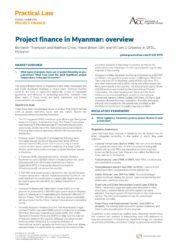 Project Finance Regulation in Myanmar