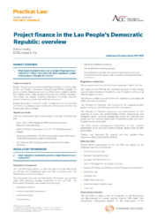 Project Finance Regulations in the Lao PDR Outlined