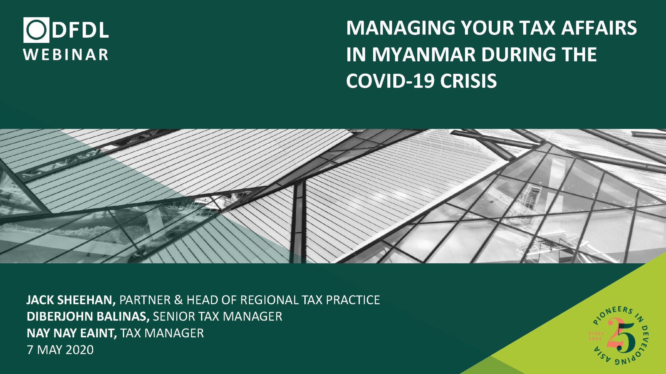Managing Your Tax Affairs in Myanmar During the COVID-19 Crisis