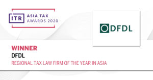 ITR Asia Tax Awards 2020 Winner Regional Tax Law Firm of the Year in Asia
