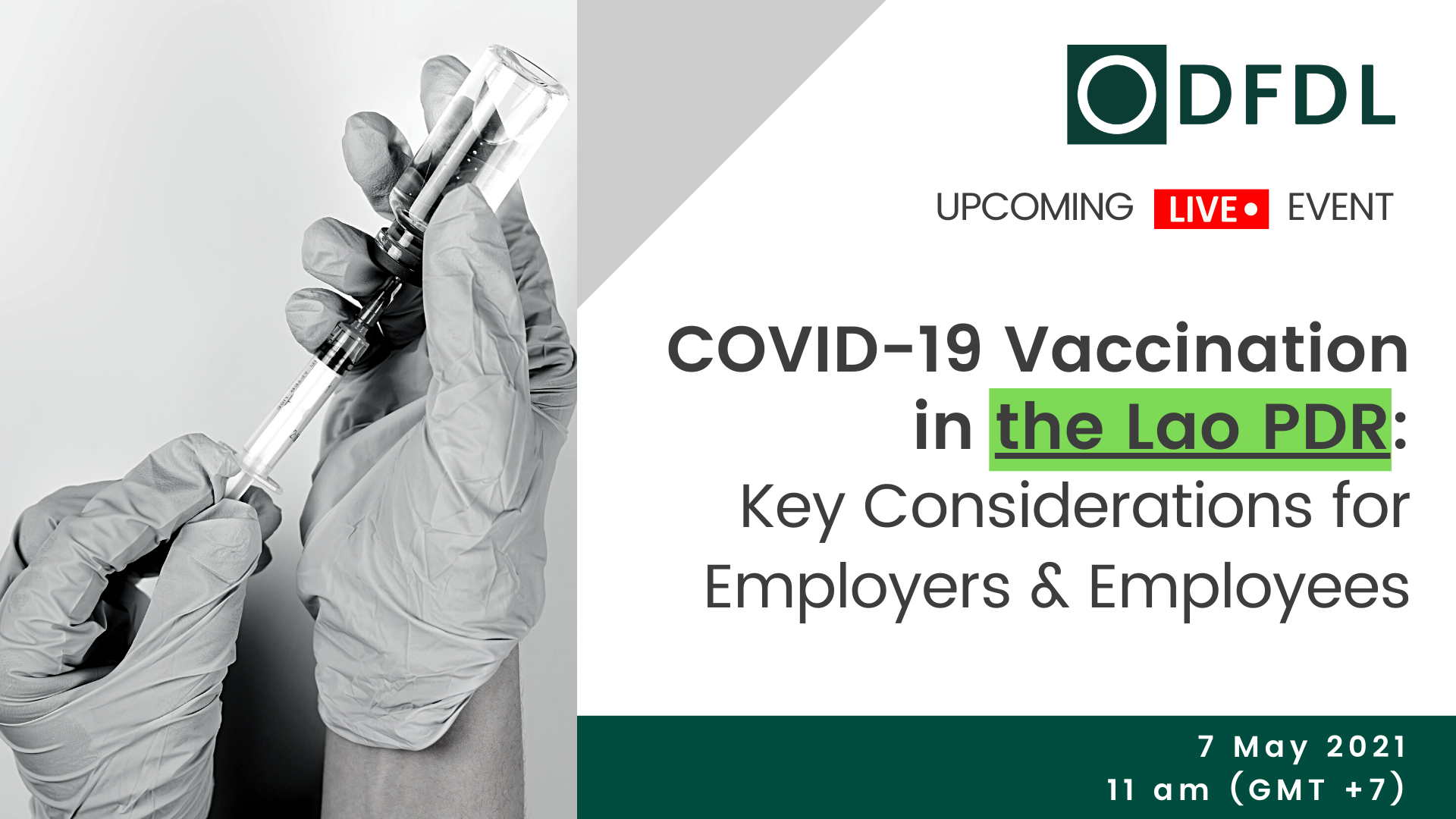 COVID-19 Vaccination in the Lao PDR: Key Considerations for Employers & Employees