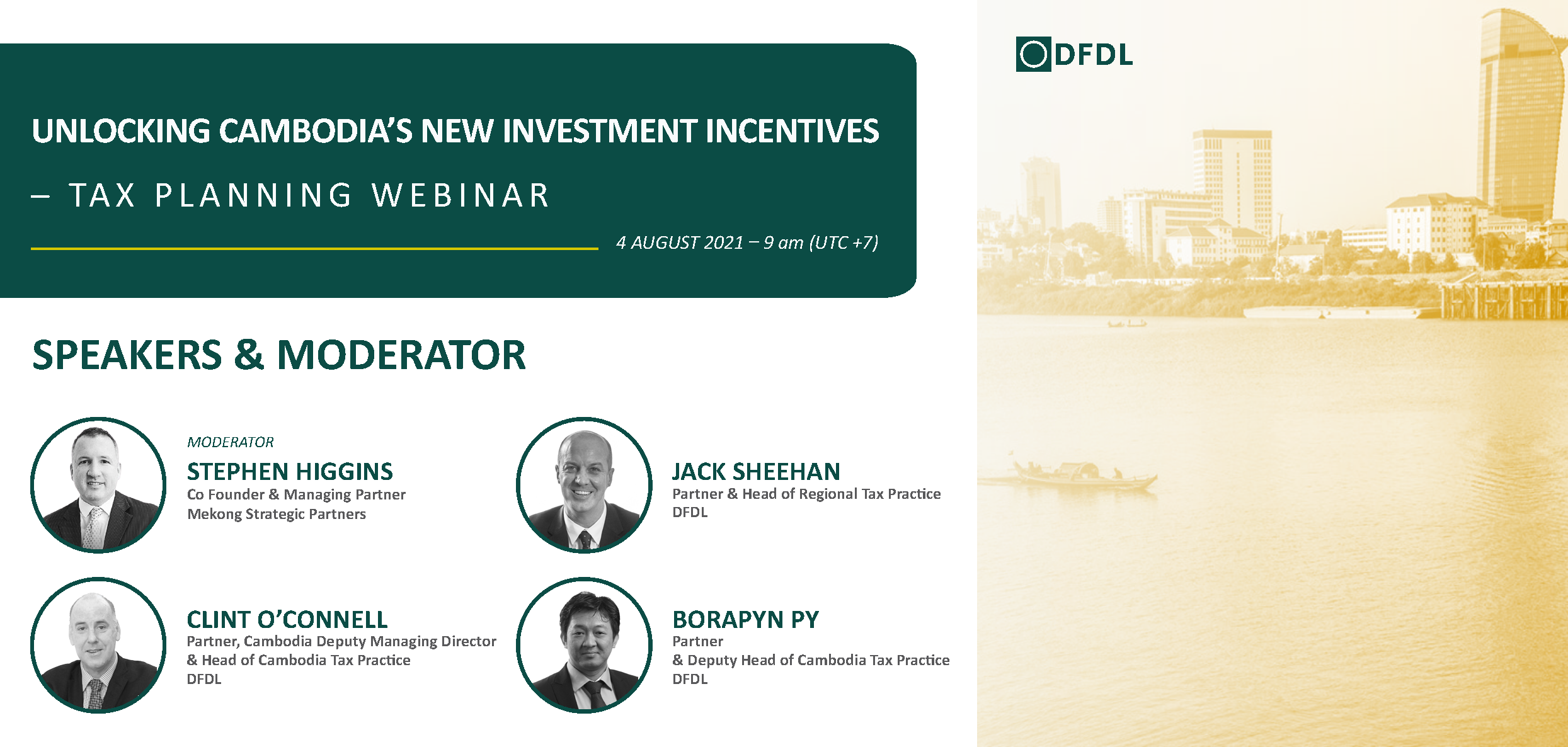 Unlocking Cambodia's New Investment Incentives – Tax Planning