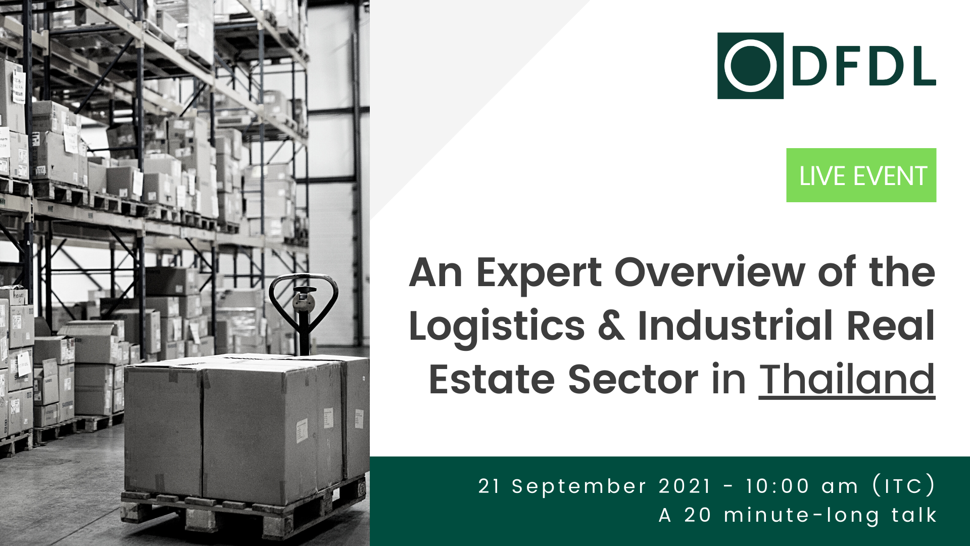 An Expert Overview of the Logistics & Industrial Real Estate Sector in Thailand