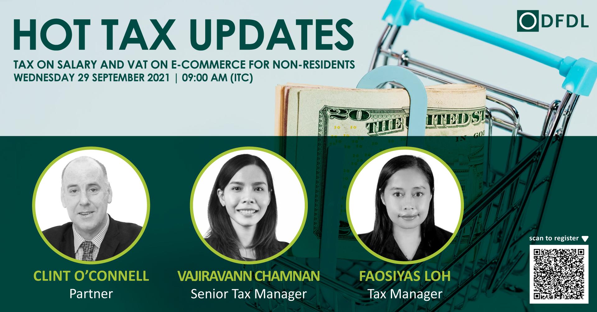 Hot Tax Updates: Tax on Salary & VAT on Non-Residents' E-Commerce Activities